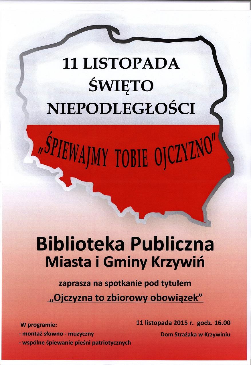 11 Listopada święto Niepodległości Biblioteka Publiczna
